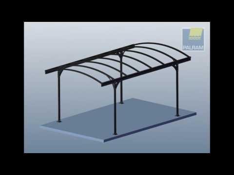 Carport vitoria tepro aluminium kunststoff cm