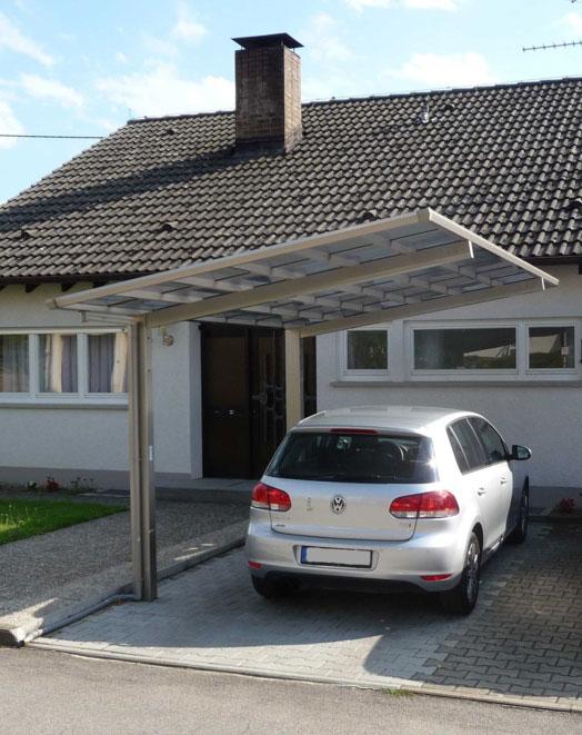 Carport XIMAX Linea Aluminium Typ 110 Standard ES 495x273x244cm Bild 2
