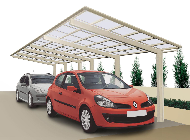 carport ximax linea aluminium typ 170 tandem es 983 x273x244cm bei. Black Bedroom Furniture Sets. Home Design Ideas