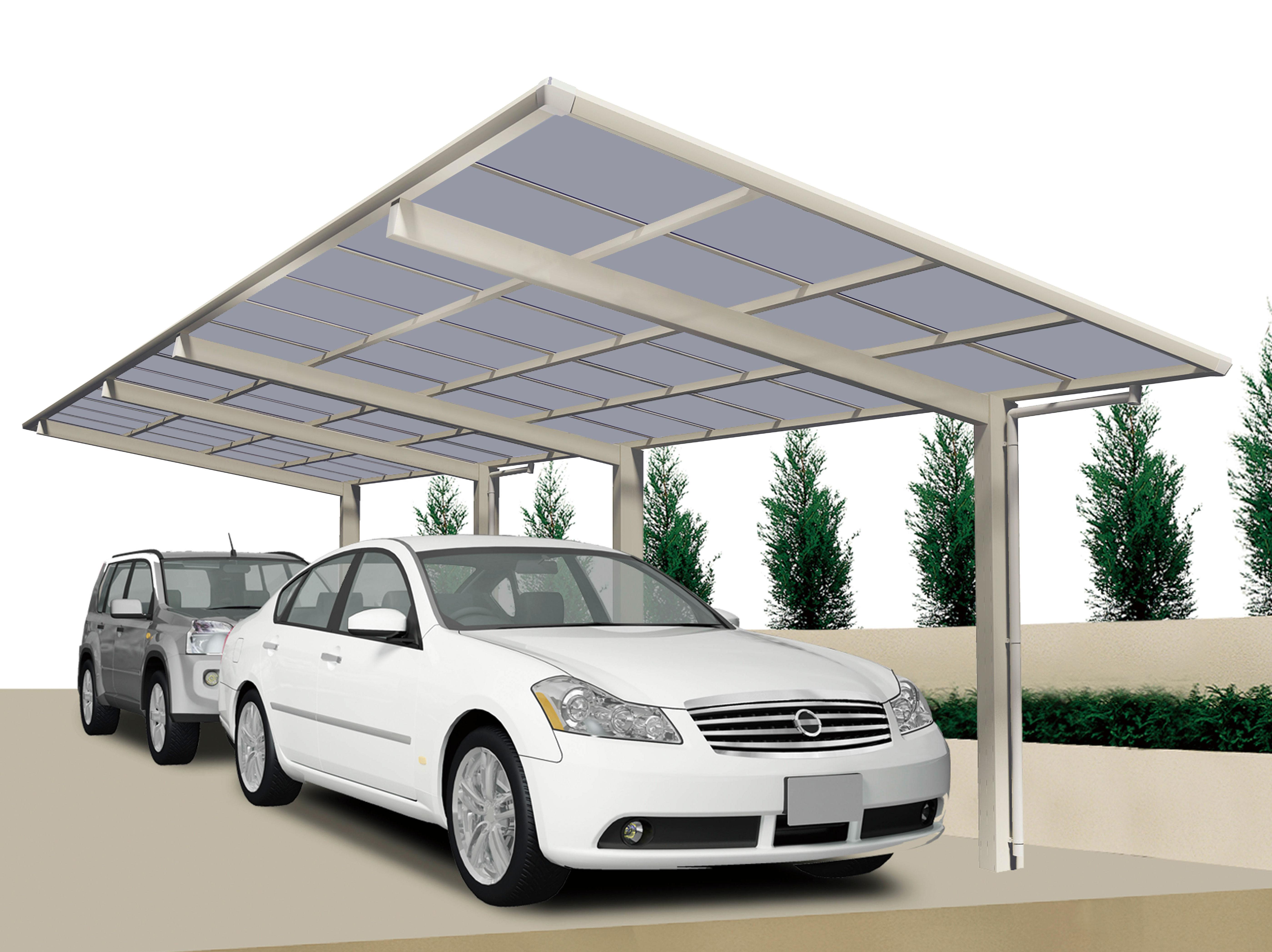 carport ximax linea aluminium typ 60 tandem es 983. Black Bedroom Furniture Sets. Home Design Ideas