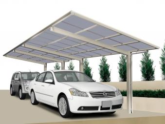 Carport XIMAX Linea Aluminium Typ 60 Tandem ES 983 x273x244cm Bild 1