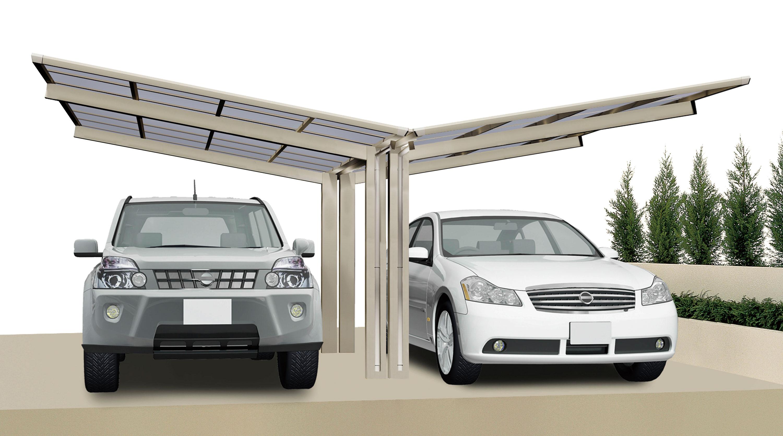 Carport XIMAX Linea Aluminium Typ 60 Y ES 495x548x244cm Bild 1
