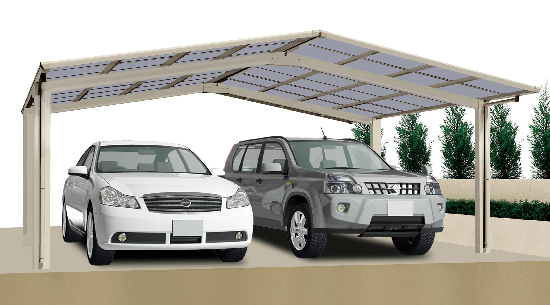 Carport XIMAX Linea Aluminium Typ 80 M ES 495x546x244cm Bild 1