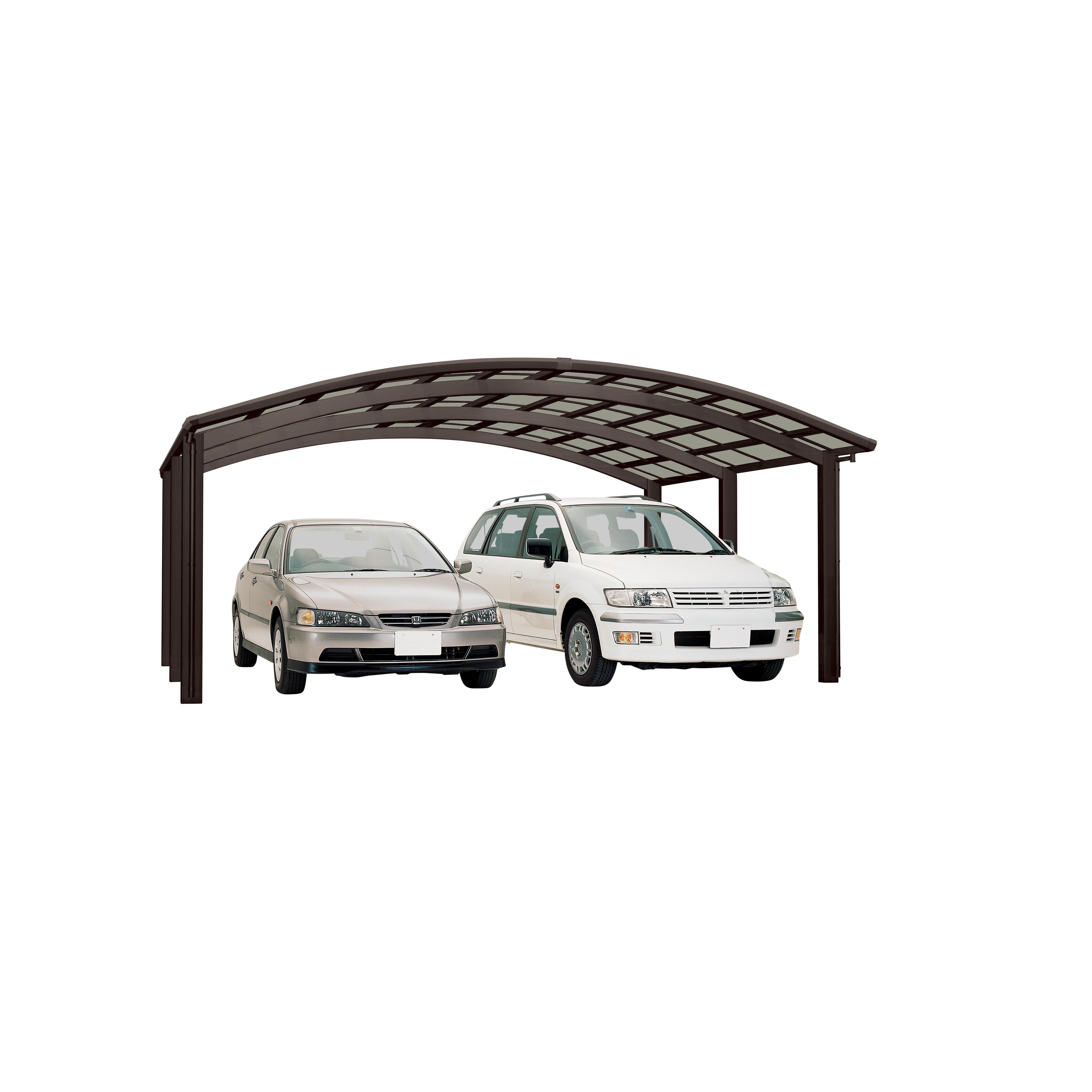 carport ximax portoforte aluminium typ 110 m braun 495x542x248cm bei. Black Bedroom Furniture Sets. Home Design Ideas
