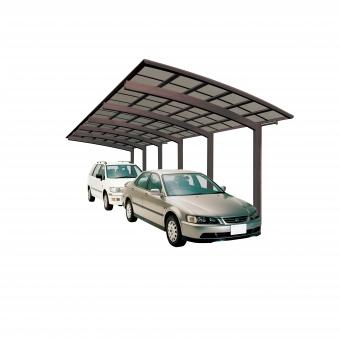 Carport XIMAX Portoforte Alu Typ 110 Tandem mattbraun 983x240x248cm Bild 1