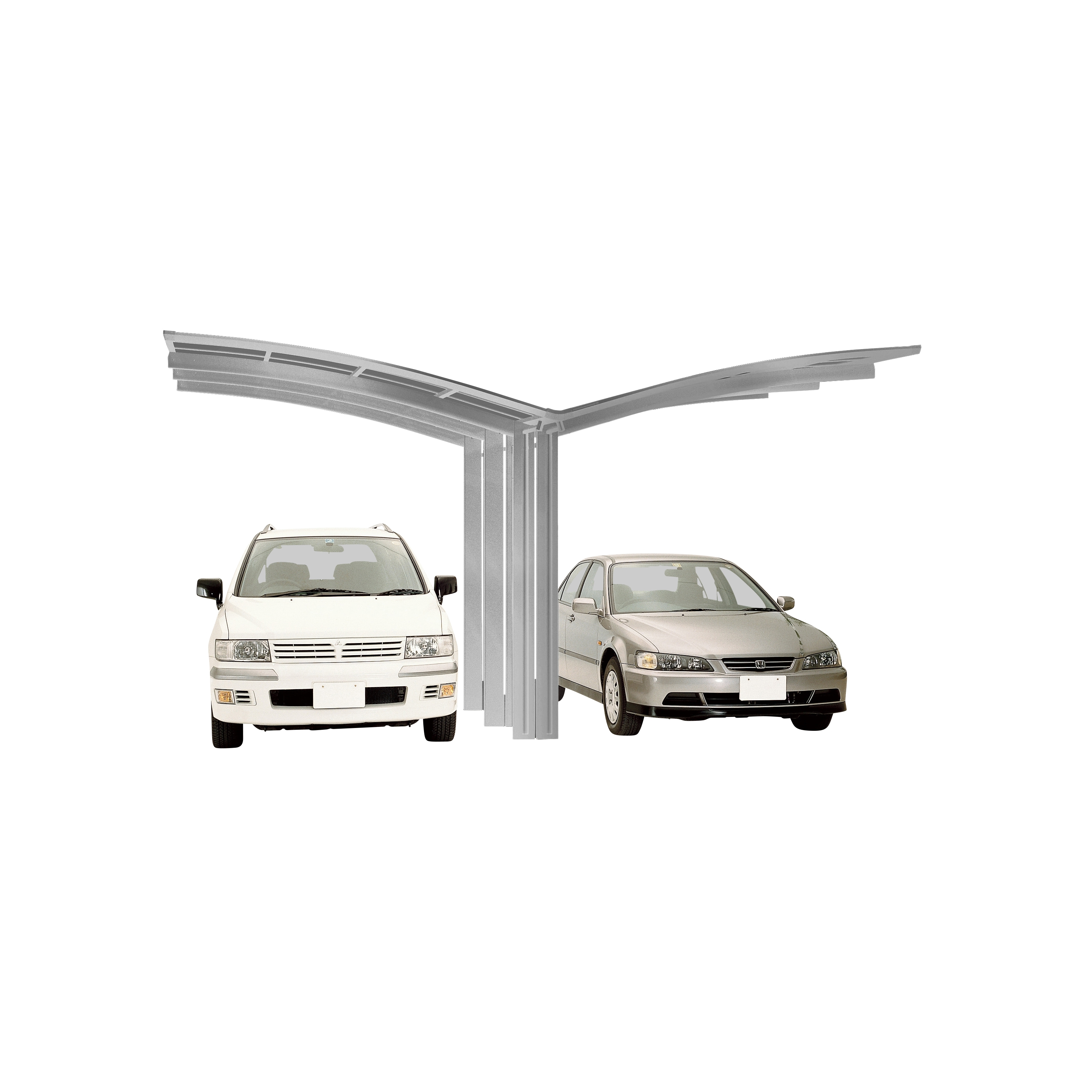 Carport XIMAX Portoforte Alu Typ 110 Y ES 495x543x248cm Bild 1