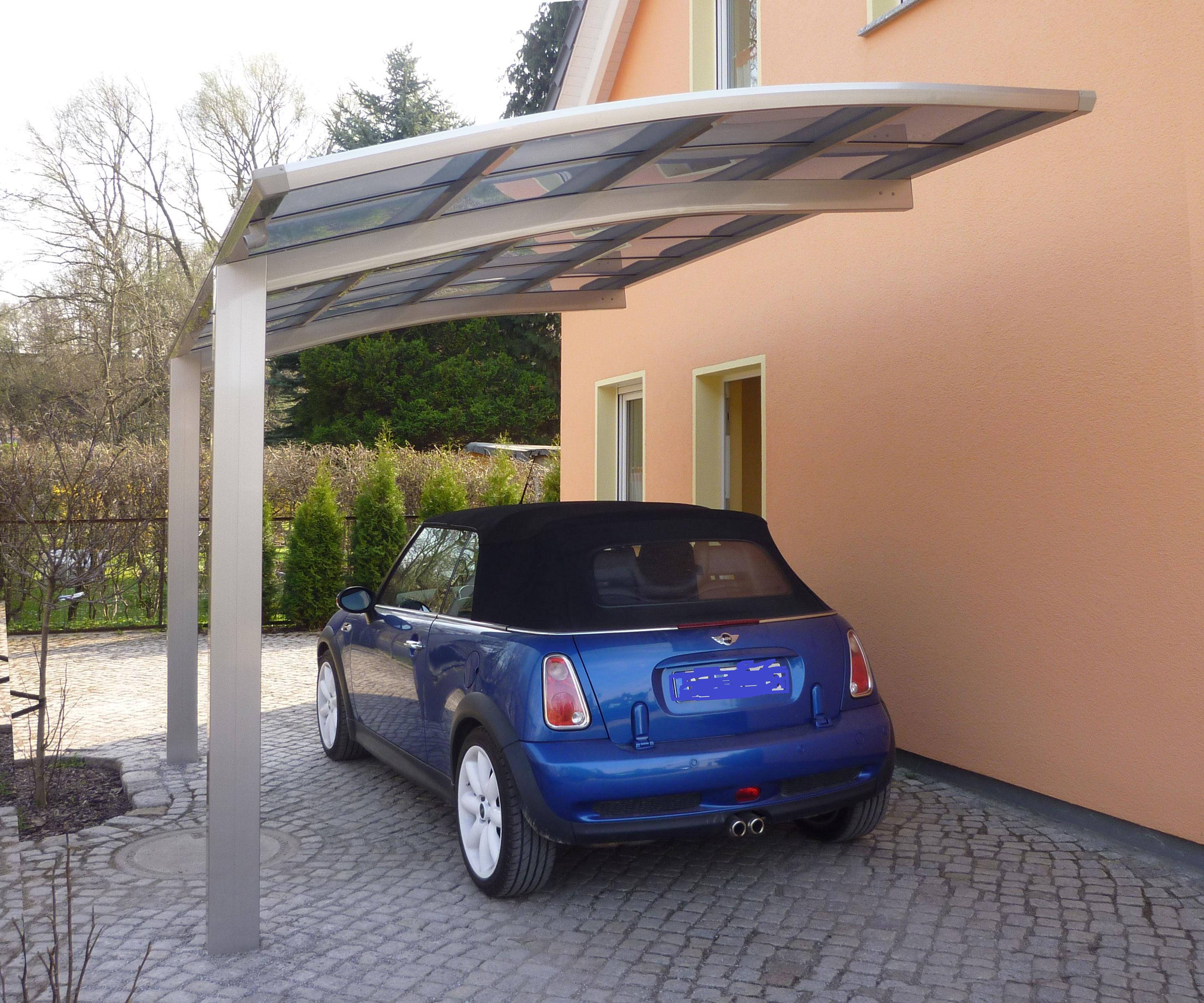 Carport XIMAX Portoforte Alu Typ 60 Standard ES 495x270x248cm Bild 2
