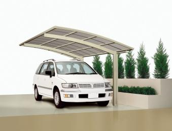 Carport XIMAX Portoforte Alu Typ 60 Standard ES 495x270x248cm Bild 1