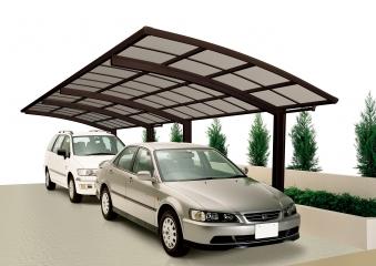 carport ximax portoforte aluminium typ 60 tandem braun. Black Bedroom Furniture Sets. Home Design Ideas