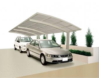 Carport XIMAX Portoforte Alu Typ 80 Tandem ES 983x240x248cm Bild 1