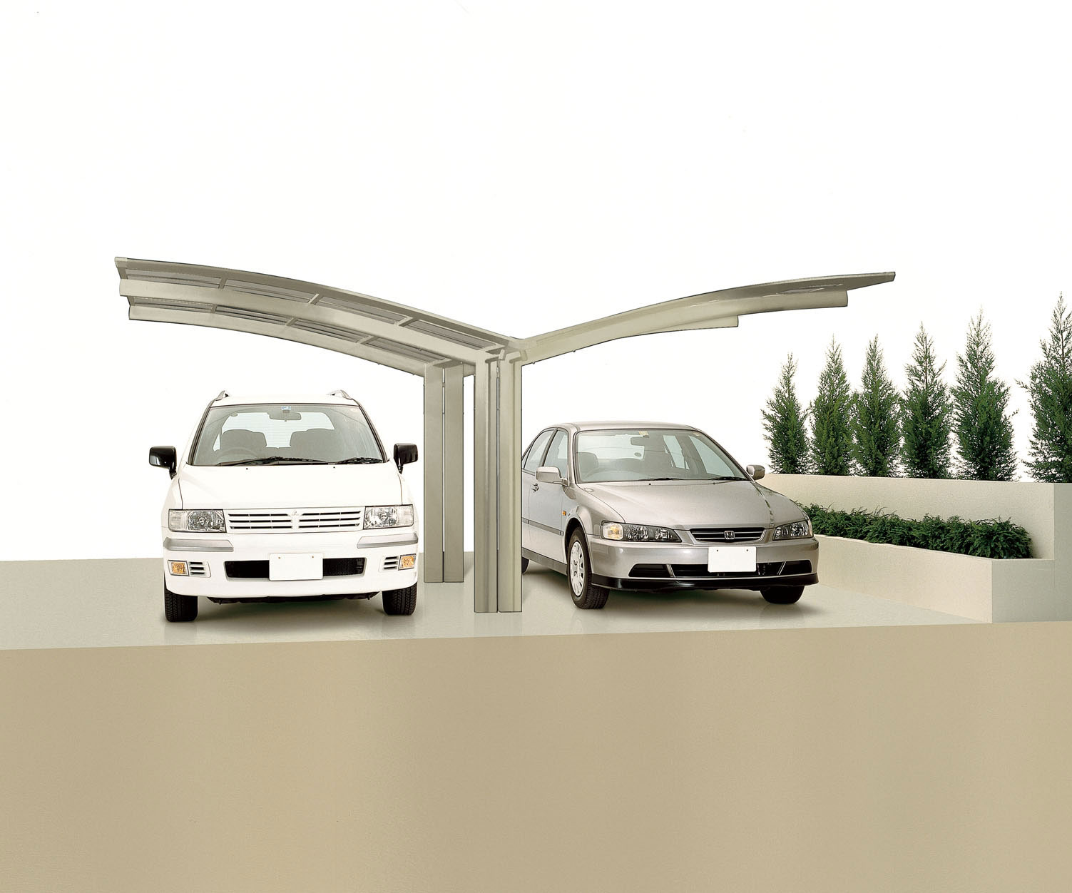 Carport XIMAX Portoforte Alu Typ 80 Y ES 495x543x248cm Bild 1