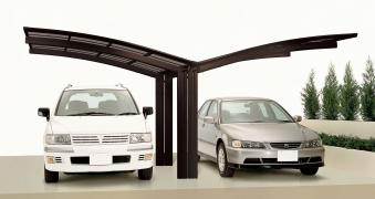 Carport XIMAX Portoforte Alu Typ 80 Y mattbraun 495x543x248cm Bild 1