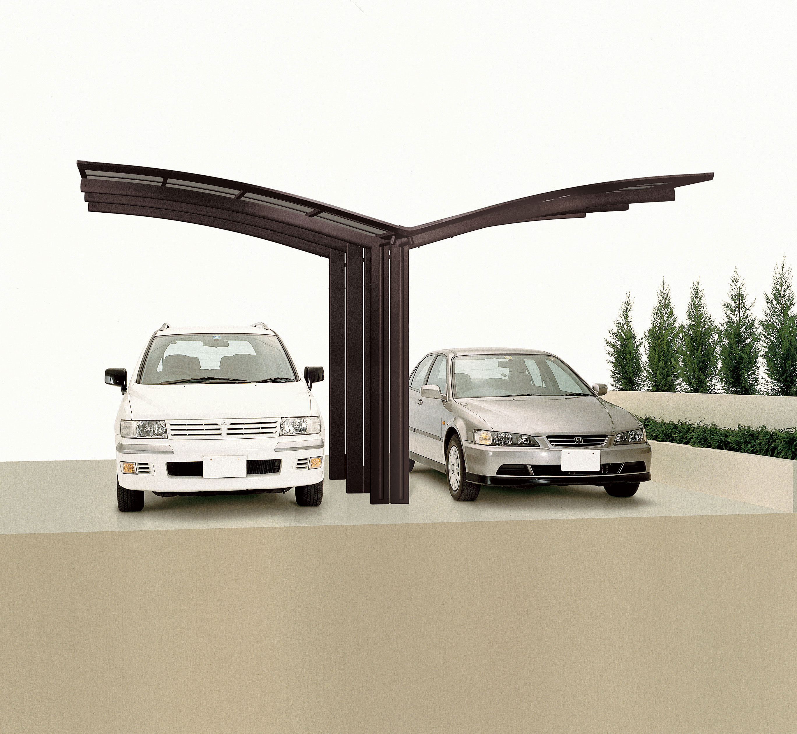 carport ximax portoforte aluminium typ 170 y braun. Black Bedroom Furniture Sets. Home Design Ideas