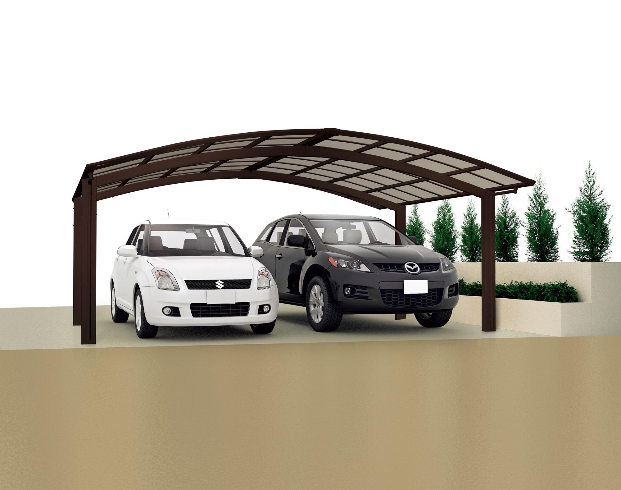 carport ximax portoforte aluminium typ 60 m braun. Black Bedroom Furniture Sets. Home Design Ideas