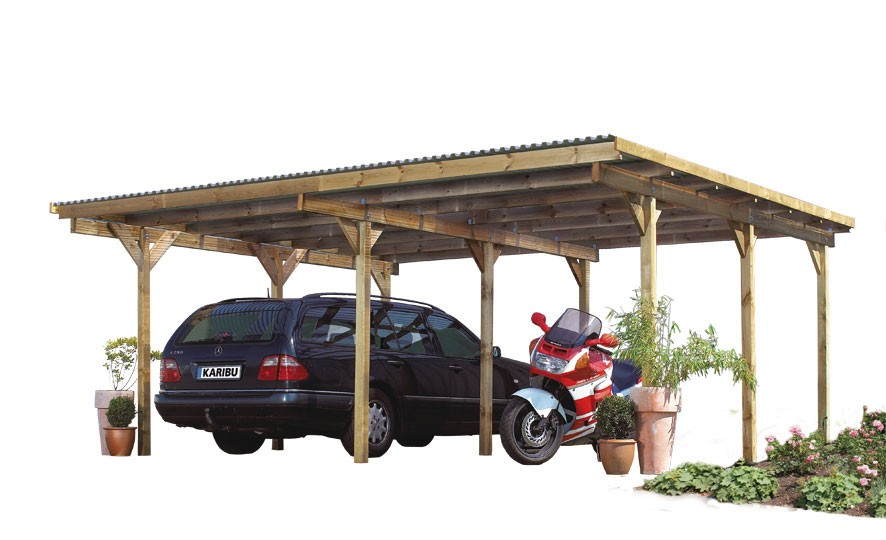 Carport Karibu Eco Doppelcarport 2 kdi 563x676cm Bild 1