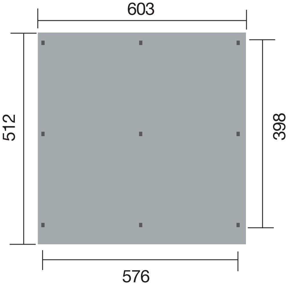 Doppelcarport Weka 618 Gr.1 Holz kdi + Kunststoff 603x512cm Bild 2
