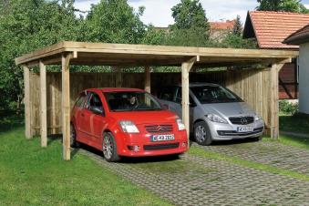 Doppelcarport Weka 618 Gr.1 Holz kdi + Kunststoff 603x512cm Bild 1