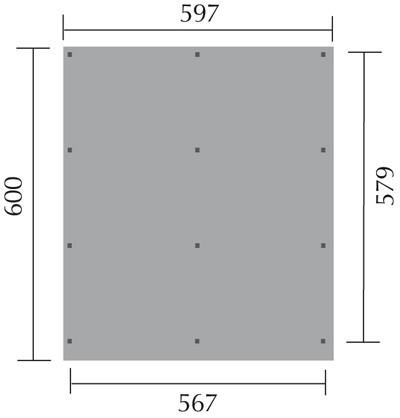 Doppelcarport Weka 618 Gr.2 Holz kdi + Kunststoff 603x612cm Bild 2