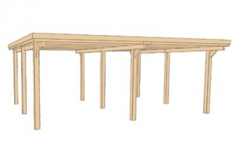 doppelcarport weka 618 gr 2 kdi 603x612cm bei. Black Bedroom Furniture Sets. Home Design Ideas