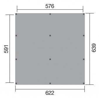 WEKA Carport / Doppelcarport Leimholz 615 Gr.1 Flachdach 622x639cm Bild 2