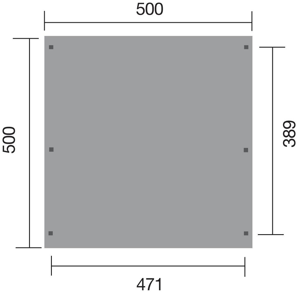 Weka Carport Doppelcarport 616 kdi 500 x 500 cm Bild 2