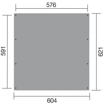 Weka Doppelcarport 609 Gr.1 kdi 604x621cm Bild 2