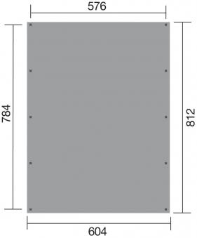 Weka Doppelcarport 609 Gr.2 kdi 604x812cm Bild 2