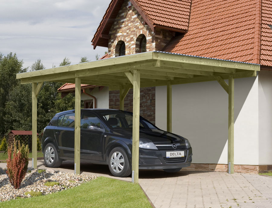 carport einzelcarport kdi mit pvc dach 300x500cm bei. Black Bedroom Furniture Sets. Home Design Ideas