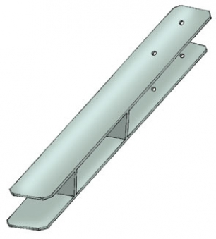 Pfostenanker / H-Pfostenanker Karibu 12x12cm Länge 80 cm