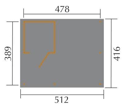 Carport Weka Carport 607 Gr.1 mit Geräteraum kdi 512x416cm Bild 2