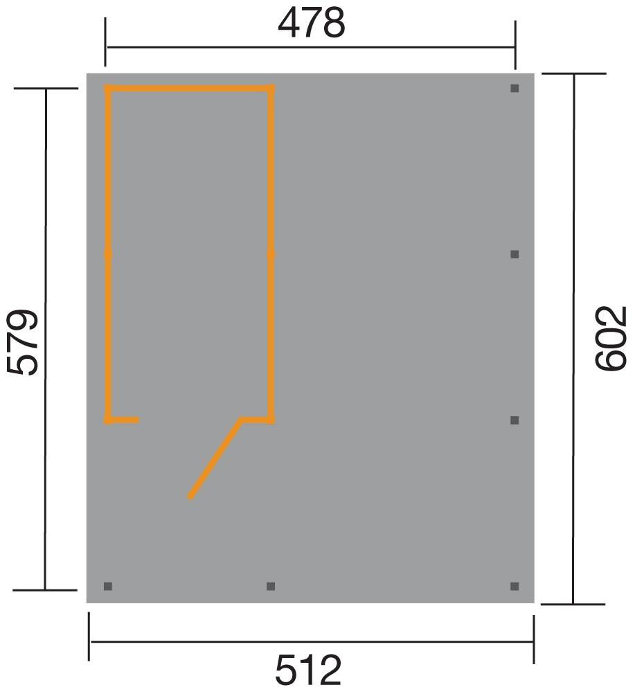 Carport Weka Carport 607 Gr.2 mit Geräteraum kdi 512x602cm Bild 2