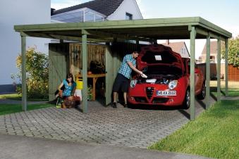Carport Weka Carport 607 Gr.2 mit Geräteraum kdi 512x602cm Bild 1