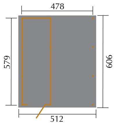 Carport Weka Carport 607 Gr.3 mit Geräteraum kdi 512x602cm Bild 2
