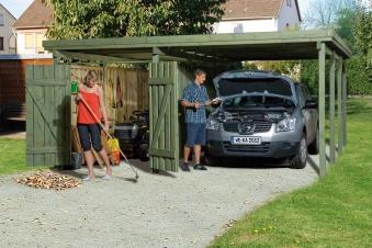 Carport Weka Carport 607 Gr.3 mit Geräteraum kdi 512x602cm Bild 1