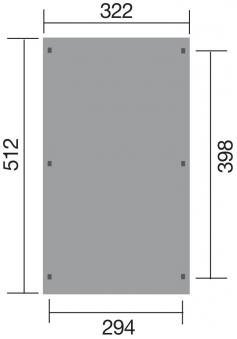 Carport Weka Einzelcarport 617 Gr. 1 Holz kdi + Kunststoff 322x512cm Bild 2