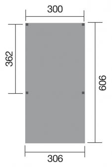 Carport Weka Y-Carport 612 kdi mit Stahldach 306x606cm Bild 2
