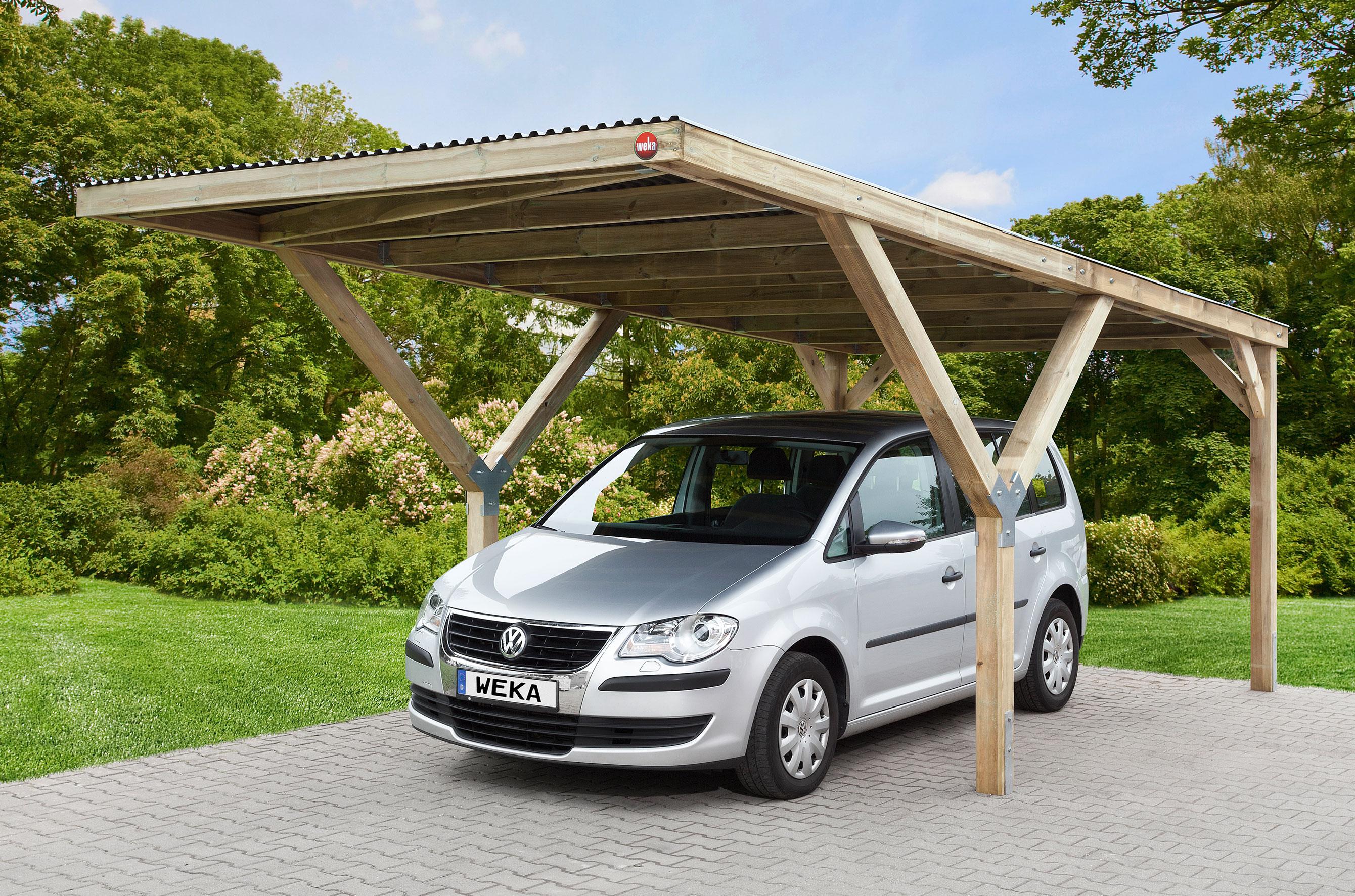 carport weka y carport 612 kdi mit stahldach 306x606cm. Black Bedroom Furniture Sets. Home Design Ideas