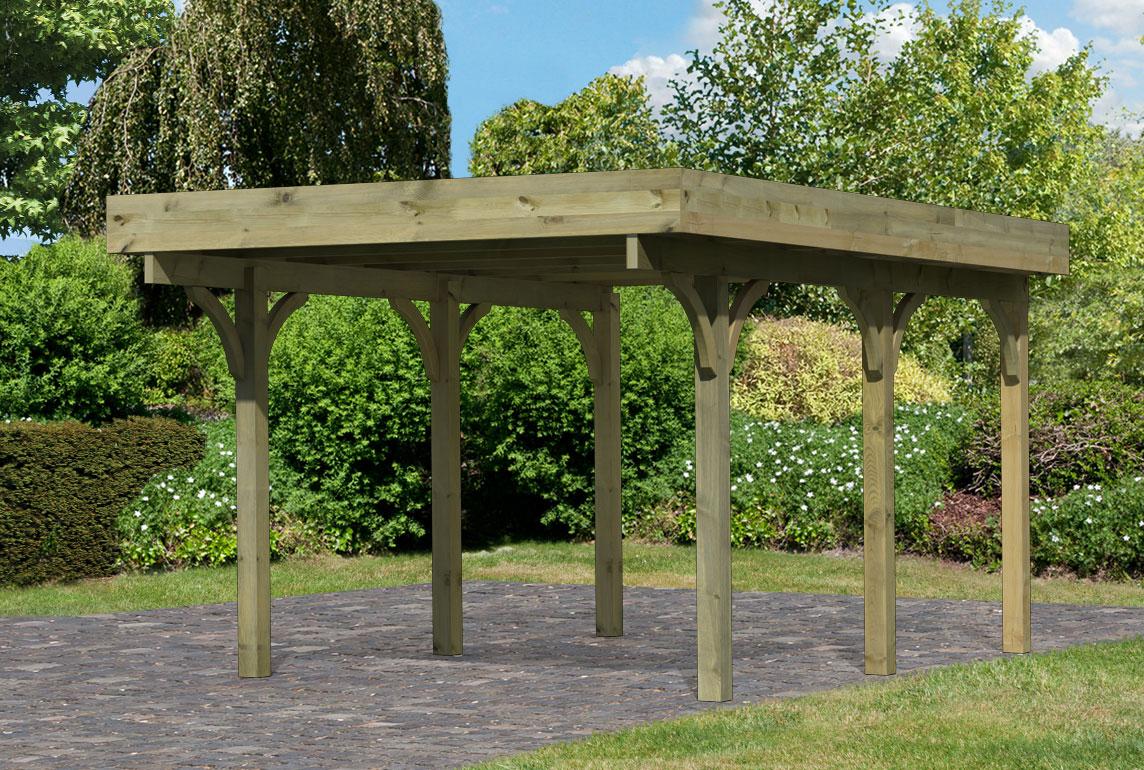Einzelcarport Karibu Premium Carport Einzel 1 kdi Stahldach 318x480cm Bild 1