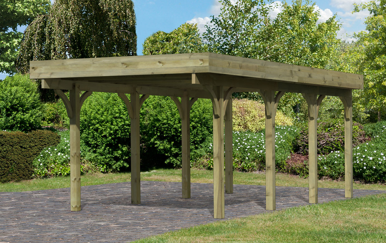 einzelcarport karibu premium carport einzel 2 kdi stahldach 318x670cm bei. Black Bedroom Furniture Sets. Home Design Ideas