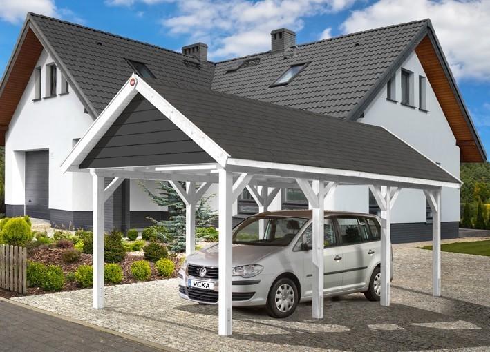 WEKA Carport / Einzelcarport Leimholz 614 Gr.1 Satteldach 360x639cm Bild 4