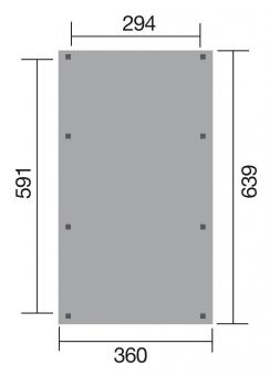 WEKA Carport / Einzelcarport Leimholz 614 Gr.1 Satteldach 360x639cm Bild 2