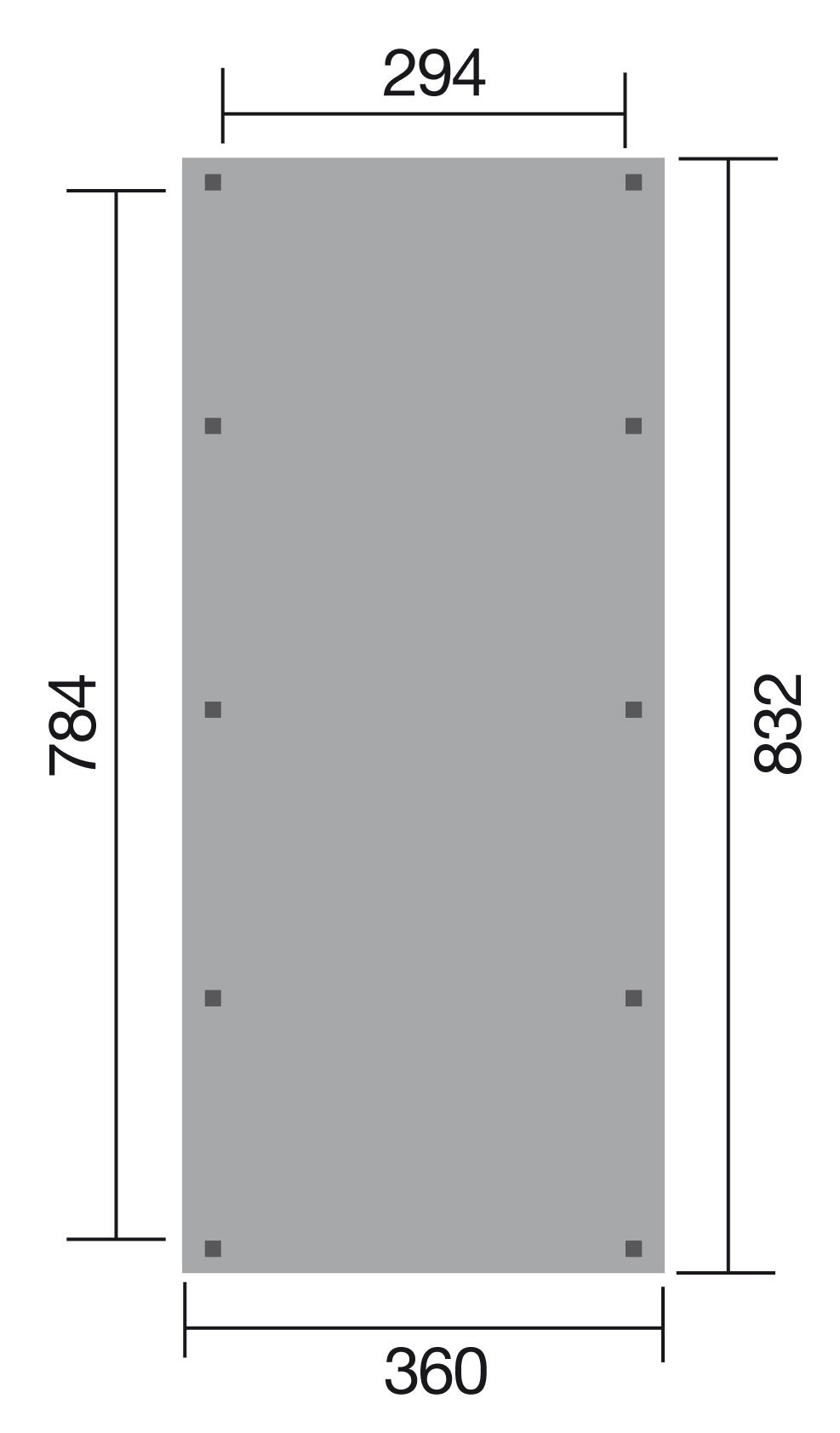 WEKA Carport / Einzelcarport Leimholz 614 Gr.2 Satteldach 360x832cm Bild 2
