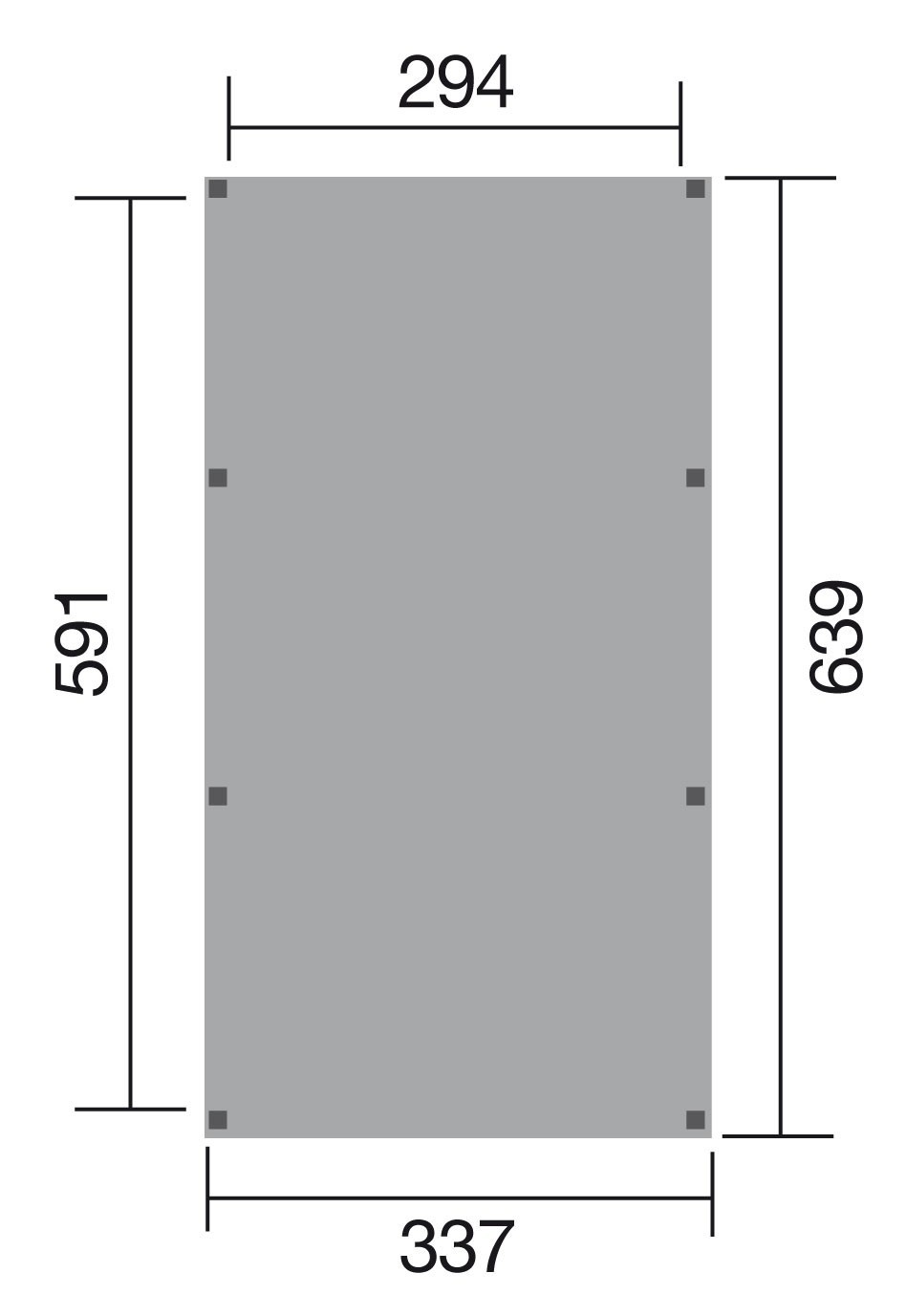 WEKA Carport / Einzelcarport Leimholz 615 Gr.1 Flachdach 337x639cm Bild 2
