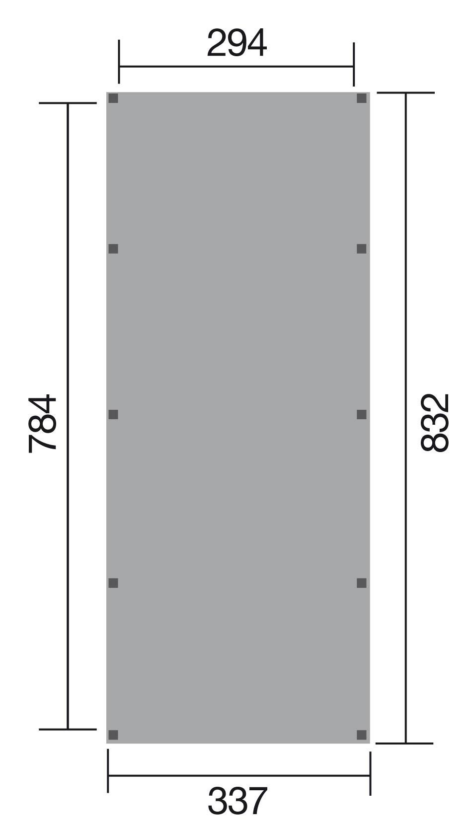 WEKA Carport / Einzelcarport Leimholz 615 Gr.2 Flachdach 337x832cm Bild 2
