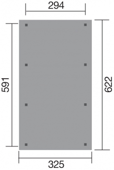 Weka Carport 609 Flachdach kdi 325x622cm Bild 2