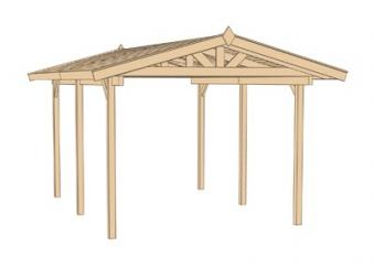 weka carport 611 kdi satteldach 340x500cm bei. Black Bedroom Furniture Sets. Home Design Ideas