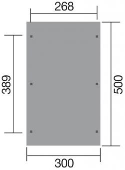Weka Carport Einzelcarport 606 Gr. 1 kdi 300x500cm Bild 2