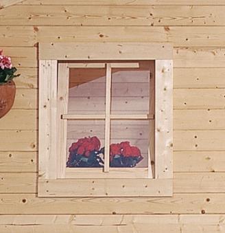 Dreh- und Kippfenster für Karibu Gartenhaus 28mm 69x80cm natur