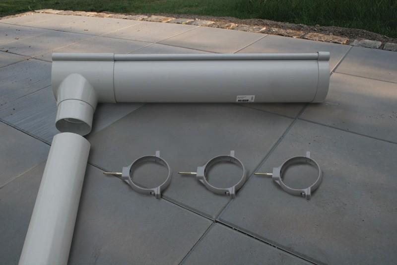 Dachrinne Dachrinnenpaket 2 für Karibu Walmdach 6 m Bild 1