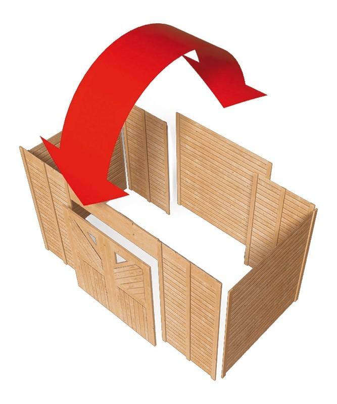 ger teraum einzel 1 karibu 274 x 204 cm mit doppelfl gelt r bei. Black Bedroom Furniture Sets. Home Design Ideas